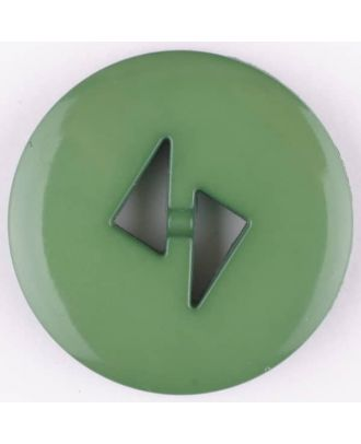 polyamide button, round, 2 holes - Size: 13mm - Color: green - Art.No. 215731