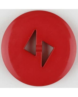 polyamide button, round, 2 holes - Size: 13mm - Color: red - Art.No. 215733