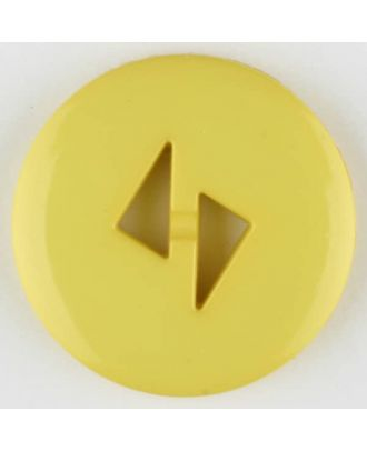 polyamide button, round, 2 holes - Size: 18mm - Color: yellow - Art.No. 265712