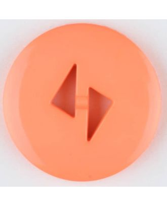 polyamide button, round, 2 holes - Size: 13mm - Color: orange - Art.No. 215736