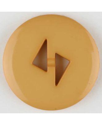 polyamide button, round, 2 holes - Size: 23mm - Color: orange - Art.No. 315714