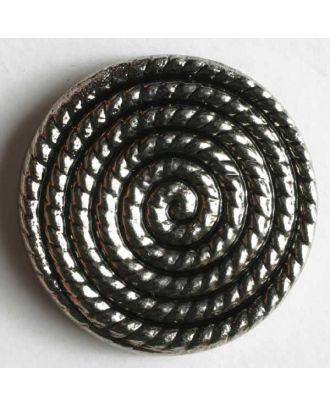 Metallized plastic button - Size: 14mm - Color: antique silver - Art.No. 211104