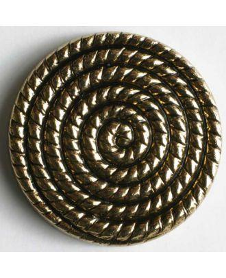 Metallized plastic button - Size: 28mm - Color: antique gold - Art.No. 340142