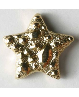 Metallized plastic button - Size: 17mm - Color: gold - Art.No. 310175