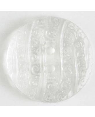 fashion button - Size: 23mm - Color: transparent - Art.-Nr.: 310634