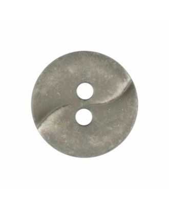 small polyamide button with a wave and two holes - Size: 13mm - Color: grey - Art.No. 225827