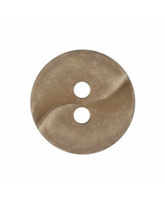 small polyamide button with a wave and two holes - Size: 13mm - Color: beige - Art.No. 225800