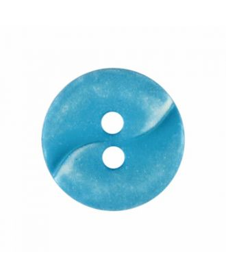 small polyamide button with a wave and two holes - Size: 13mm - Color: blue - Art.No. 225807