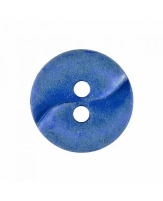 small polyamide button with a wave and two holes - Size: 13mm - Color: blue - Art.No. 225808
