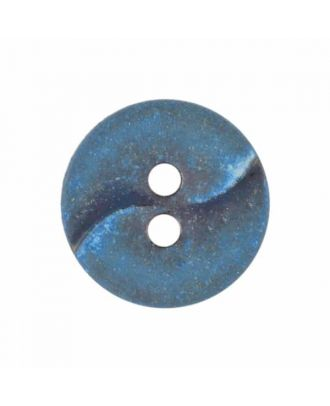 small polyamide button with a wave and two holes - Size: 13mm - Color: blue - Art.No. 225809