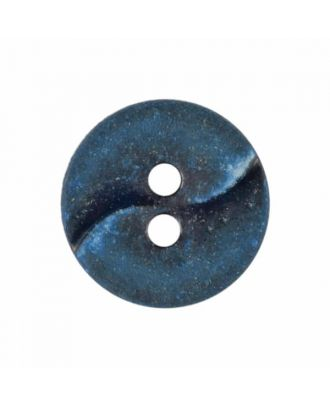 small polyamide button with a wave and two holes - Size: 13mm - Color: blue - Art.No. 225810
