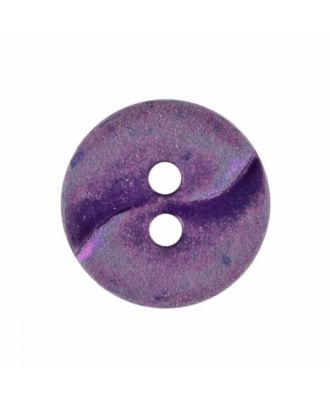 small polyamide button with a wave and two holes - Size: 13mm - Color: purple - Art.No. 225811