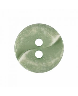 small polyamide button with a wave and two holes - Size: 13mm - Color: green - Art.No. 225813