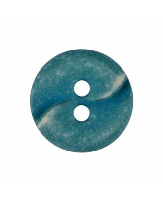 small polyamide button with a wave and two holes - Size: 13mm - Color: green - Art.No. 225815