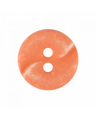 small polyamide button with a wave and two holes - Size: 13mm - Color: pink - Art.No. 225819