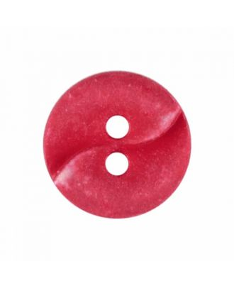 small polyamide button with a wave and two holes - Size: 13mm - Color: red - Art.No. 225820
