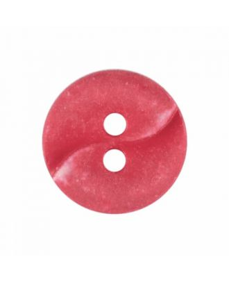 small polyamide button with a wave and two holes - Size: 13mm - Color: red - Art.No. 225821
