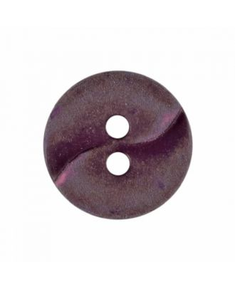 small polyamide button with a wave and two holes - Size: 13mm - Color: winered - Art.No. 225822