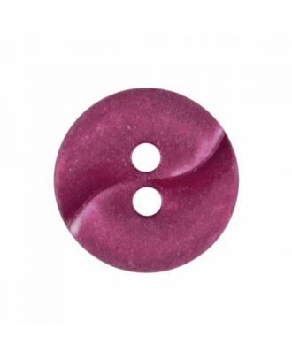 small polyamide button with a wave and two holes - Size: 13mm - Color: winered - Art.No. 225823