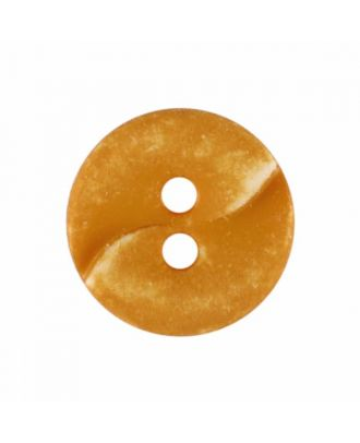 small polyamide button with a wave and two holes - Size: 13mm - Color: yellow - Art.No. 225824