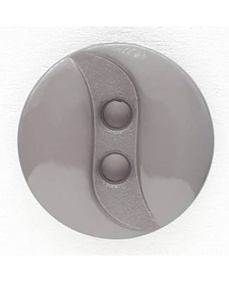 polyamide button with 2 holes - Size: 13mm - Color: grey - Art.No. 218700