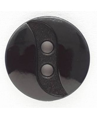 polyamide button with 2 holes - Size: 13mm - Color: black - Art.No. 211756