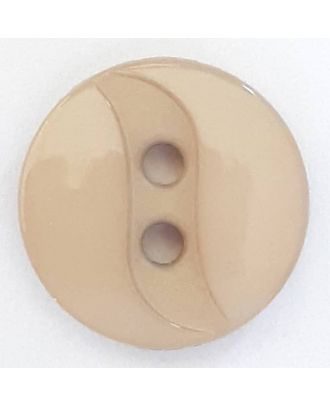 polyamide button with 2 holes - Size: 13mm - Color: beige - Art.No. 218702