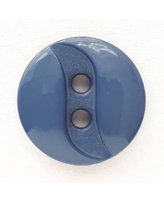 polyamide button with 2 holes - Size: 13mm - Color: blue - Art.No. 218707