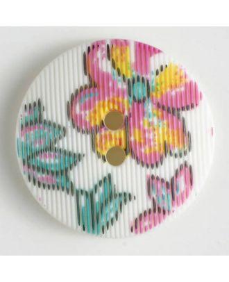 fashion button - Size: 20mm - Color: white - Art.-Nr.: 280650