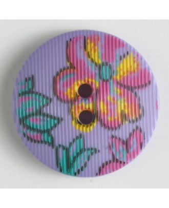 fashion button - Size: 20mm - Color: lilac - Art.-Nr.: 280653