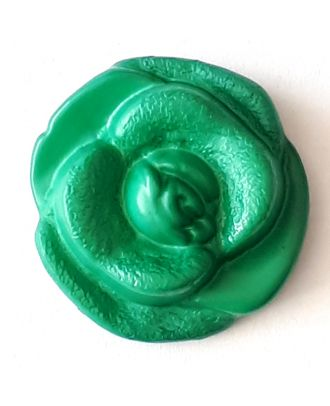 rose button with shank - Size: 18mm - Color: gentle/light green - Art.No. 262807