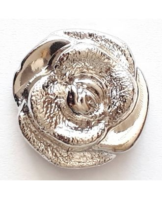 rose button with shank - Size: 13mm - Color: silver - Art.No. 231633