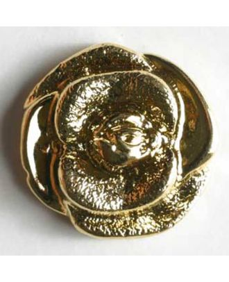 Rose button, metallized plastic  - Size: 18mm - Color: gold - Art.No. 290250