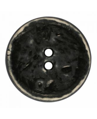 polyamide button round shape vintage look and 2 holes - Size: 23mm - Color: black - Art.-Nr.: 341378