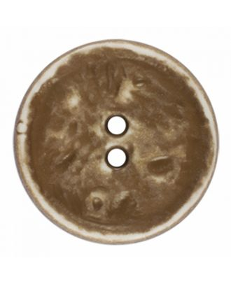 polyamide button round shape vintage look and 2 holes - Size: 23mm - Color: beige - Art.-Nr.: 346825
