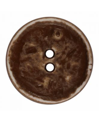 polyamide button round shape vintage look and 2 holes - Size: 23mm - Color: brown - Art.-Nr.: 346826