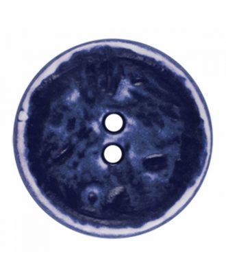 polyamide button round shape vintage look and 2 holes - Size: 23mm - Color: navy blue - Art.-Nr.: 346829