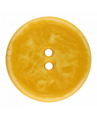 polyamide button round shape vintage look and 2 holes - Size: 23mm - Color: yellow - Art.-Nr.: 346835