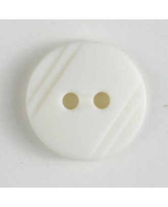 shirt buttons with 2 holes - Size: 13mm - Color: white - Art.No. 211255