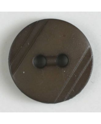 shirt buttons with 2 holes - Size: 13mm - Color: brown - Art.No. 217602