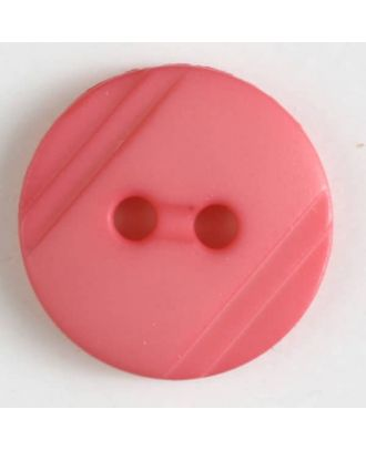shirt buttons with 2 holes - Size: 13mm - Color: pink - Art.No. 217609