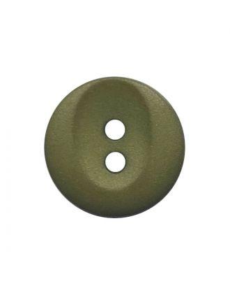 polyamide button round shape with 2 holes - Size: 13mm - Color: khaki - Art.No.: 222062