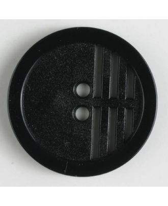 polyamide button - Size: 15mm - Color: black - Art.No. 221425