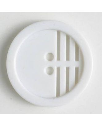 polyamide button - Size: 15mm - Color: white - Art.No. 221424