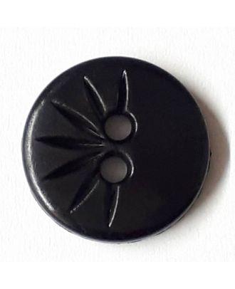shirt button wit 2 holes - Size: 13mm - Color: black - Art.No. 211441