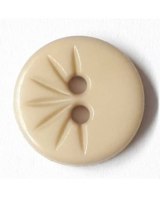 shirt button wit 2 holes - Size: 13mm - Color: beige - Art.No. 212803