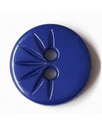 shirt button wit 2 holes - Size: 13mm - Color: royal blue - Art.No. 212807