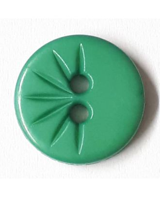 shirt button wit 2 holes - Size: 13mm - Color: gentle/light green - Art.No. 212813