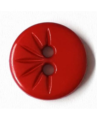 shirt button wit 2 holes - Size: 13mm - Color: red - Art.No. 212818