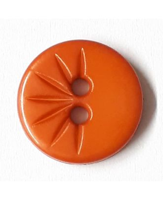 shirt button wit 2 holes - Size: 13mm - Color: orange - Art.No. 212821
